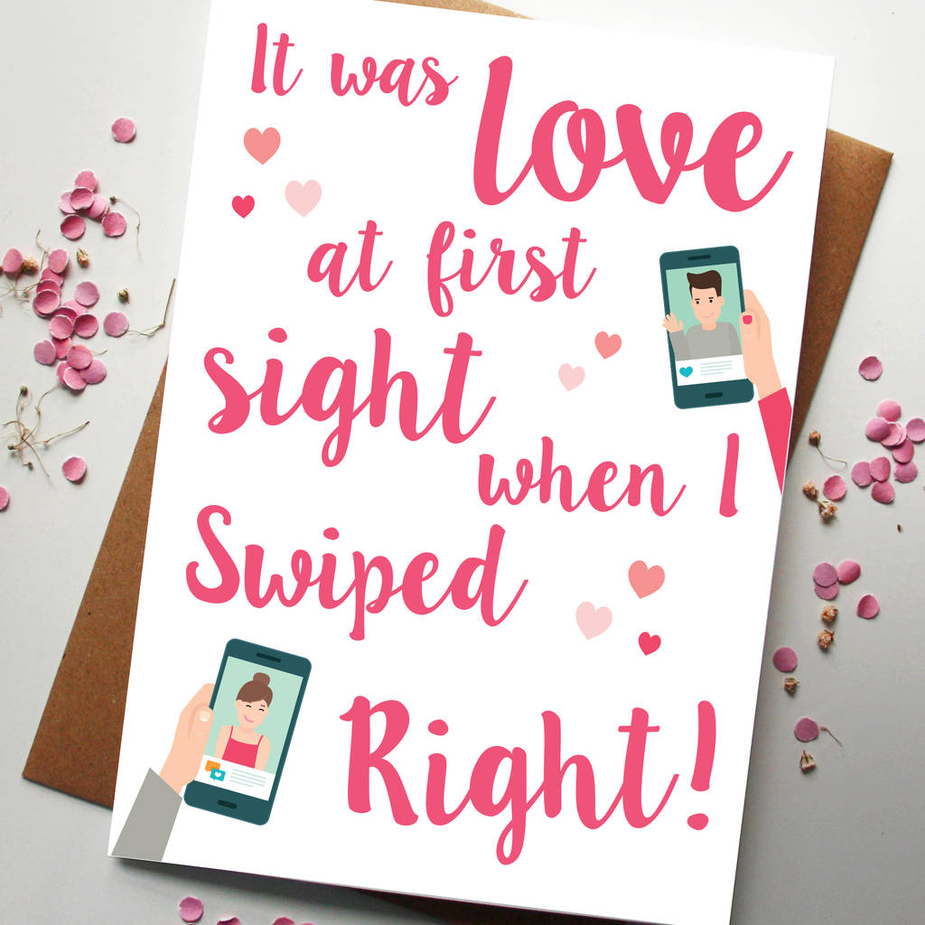 swiped right card by rodo creative – What to Right on a Valentine Day Card