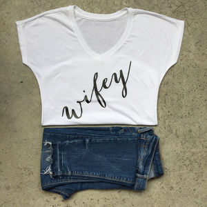 Personalised Wifey T Shirt - tops & t-shirts