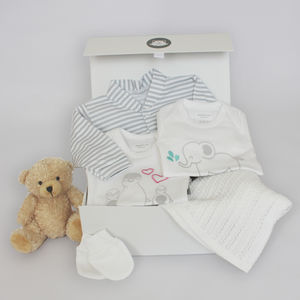 New Baby Bed Time Gift Set With Emmie Elephant - clothing
