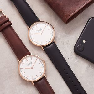 Rose Gold Classic Personalised Watch For Men