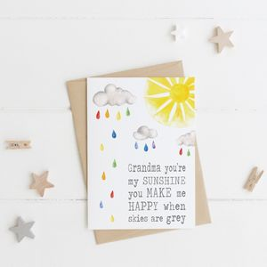 Grandma Sunshine Card For Mothers Day - shop by category