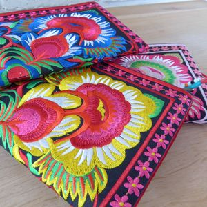 Floral Embroidered Clutch Bag - the mexicana collection