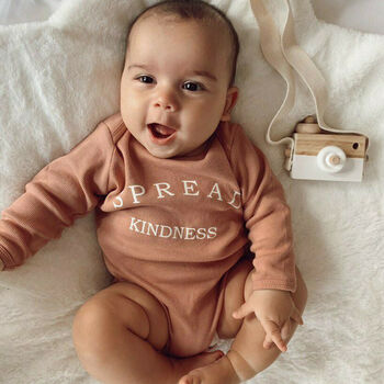 'Spread Kindness' Unisex Organic Cotton Baby Bodysuit