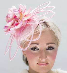 Pink Flower Hat - hats & fascinators