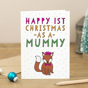 Personalised Happy First Christmas As A… Fox Card