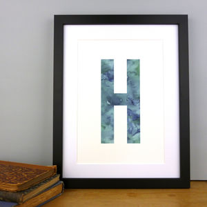 Watercolour Alphabet Initial Letter Print - posters & prints for children