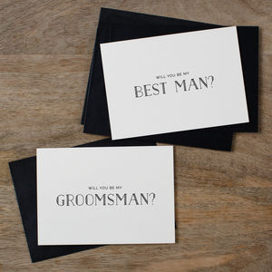 'Will You Be My Groomsman?' Card