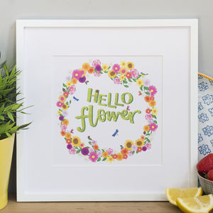 'Hello Flower' Print - posters & prints
