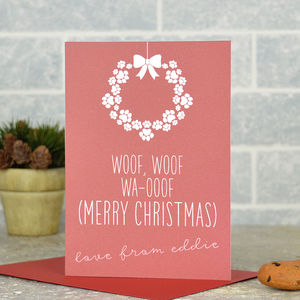 Personalised From The Dog Christmas Card - cards & wrap