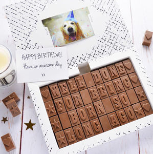 Chocolate 60th Birthday Card - novelty chocolates