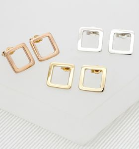 Geometric Square Earrings, Medium