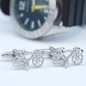 Personalised Racer Bicycle Cufflinks - for sports fans
