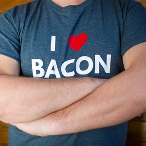 I Heart Bacon Dark Grey Tshirt
