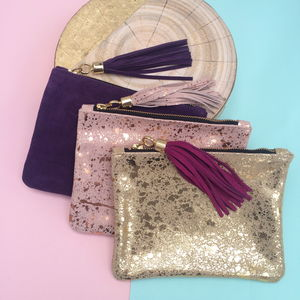 Betsy Mini Suede Clutch
