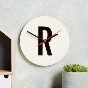 Alphabet Letter Clock - kitchen
