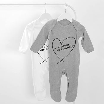 Loves Their Family Personalised Baby Grow