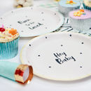 Baby Shower Gender Neutral Paper Plates