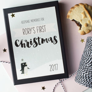 First Christmas Memories Keepsake Card Set - top unique gifts