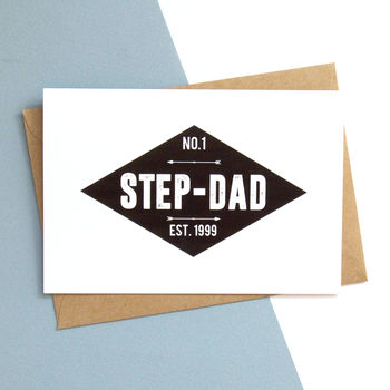 Number One Step Dad Personalised Card