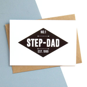 Number One Step Dad Personalised Card - cards for step dads