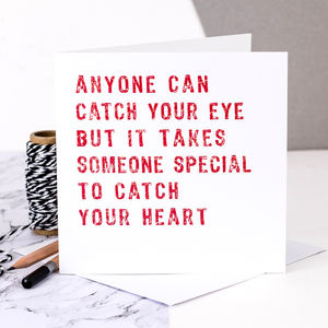 Love Card; 'Someone Special To Catch Your Heart' - engagement cards
