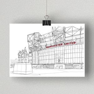 Old Trafford, Signed Print