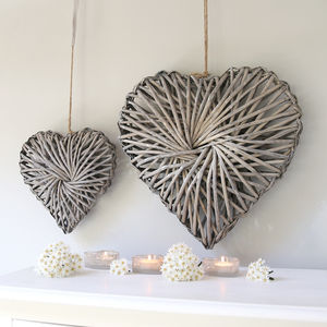 Willow Heart Hanging Decoration - decorative accessories
