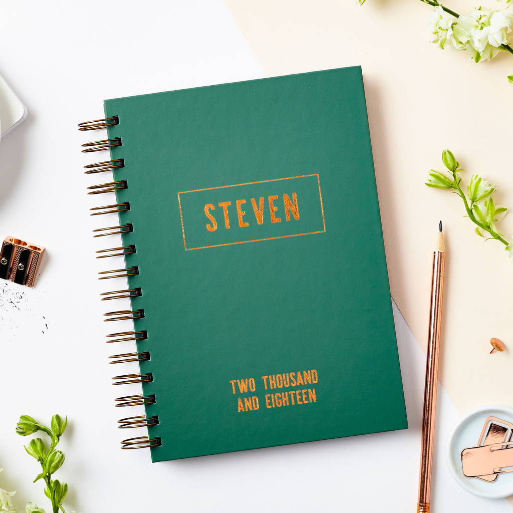 Personalised Copper Name 2018 Weekly Diary