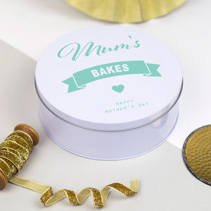Personalised Bakes Tin - gifts for mothers
