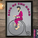 Personalised 'Fathers Day' 'Cycle' Print