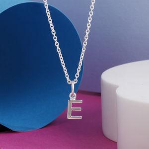 Silver Initial Childrens Necklace - personalised gifts