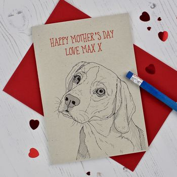 Beagle Dog Mother's Day Card