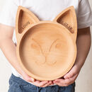 Personalised Wooden Fox Plate