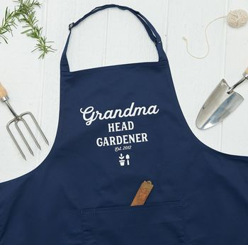 Personalised Head Gardener Apron