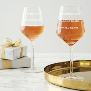 Personalised Drinks Measure Wine Glass - winter sale