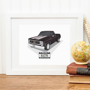 Personalised Car Illustration Print - posters & prints