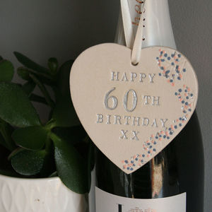 60th Birthday Hanging Heart