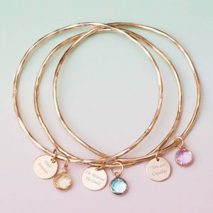 'You Are Capable Of Amazing Things' Bangle - bracelets & bangles