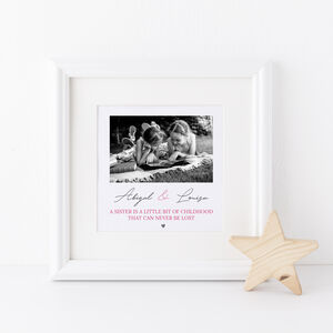 Sisters Photo Framed Print
