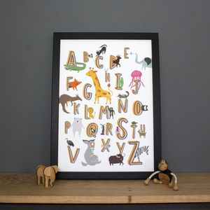 Animal Alphabet Print - children's room
