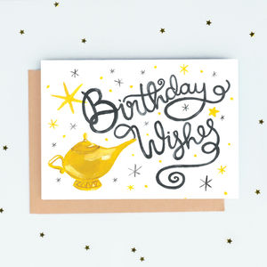 'Birthday Wishes' Genie Lamp Card
