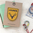 Personalised Embroidered Patch 'Stag'