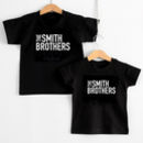 The 'Surname' Brothers Matching Children's T Shirts