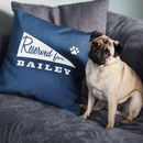 Denim 'Reserved For' Pennant Personalised Pet Cushion