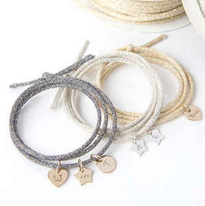 Personalised Sparkle Wrap Bracelet - gifts for her