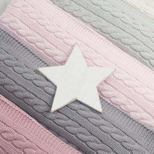 Luxury Baby Girl Cable Blanket - baby's room