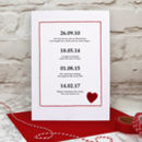 Special Dates Valentines Card