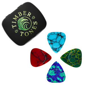 Stone Tones Guitar Plectrums In A Gift Tin - mens