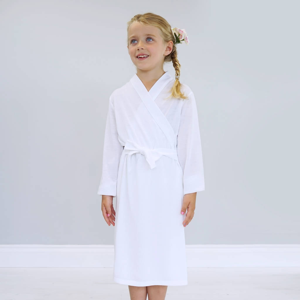 personalised botanical flower girl dressing gown by sparks and ...