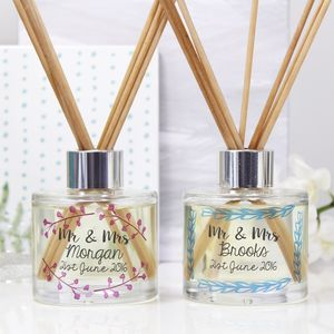 Personalised Wedding Reed Diffuser Gift Set - personalised wedding gifts